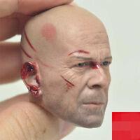 """1/6 Bruce Willis Head Sculpt Battle Ver. Sculpt Model Fit 12"""" Man Figure Bodies"""