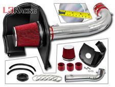 RED COLD AIR INTAKE+HEAT SHIELD FOR 14-17 Chevrolet Silverado 1500 5.3L 6.2L V8