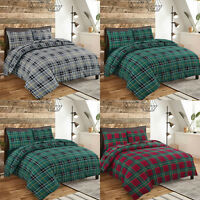 NZ 100% Brushed Cotton Flannel Duvet Quilt Cover  Pillowcase Single Double King