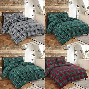 NZ 100% Brushed Cotton Flannel Duvet Quilt Cover  Pillowcase Single Double King
