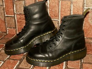vintage made in England Dr. Martens chunky leather quad boots uk 6 eu 39 Doc#298