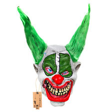 Latex Witch Mask with Green Hair  for Halloween Party Costume Decoration Cosplay