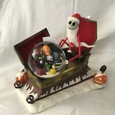 Disney Nightmare Before Christmas SANTA JACK SLEIGH Blower Figures SnowGlobe-MIB