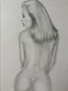 female nude rear view