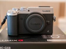 Panasonic Lumix GX8. Body only.  Silver.  Excellent Condition