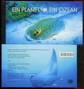 UNO Wien 2010 Planet Ozean Meerestiere Fische Markenheft Gestempelt