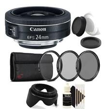 Canon EF-S 24mm f/2.8 STM Lens with Accessories For Canon DSLR Cameras