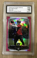 2014 DEREK CARR TOPPS CHROME PINK REFRACTOR GMA GEM 10 84/399 RAIDERS RC ROOKIE