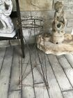 """ANTIQUE FRENCH WIRE PLANT STAND 30"""" Tall STUNNING GREEN PATINA"""