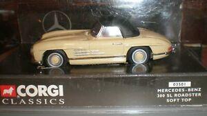 Corgi 03501 Mercedes-benz 300 SL Roadster Soft Top
