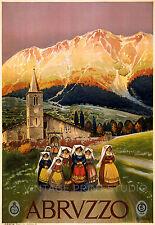 Abruzzo Alicandri 1920 Italian Travel Vintage Advertising Canvas Print 20x29