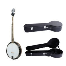 High Quality 5 String Banjo Closed Back 24 Brackets Head with Hardshell Case