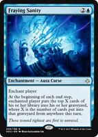 FRAYING SANITY Hour of Devastation MTG Blue Enchantment — Aura Curse Rare