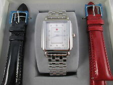 NEW Michele Deco II Silver & Diamond Watch MWW06X000026 Gift Set!