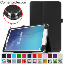 For Samsung Galaxy Tab E 9.6 inch Tablet Case Vegan Leather Folio Stand Cover