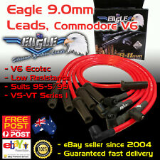 Eagle RED 9mm Ignition Spark Plug Leads Fits Commodore VS VT V6 95-99