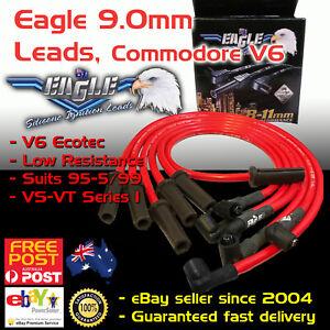 Eagle RED 9mm Ignition Spark Plug Leads Fits Commodore VS VT V6 95-99