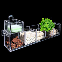 2-6 Grids Acrylic Aquarium Fish Tank External Hang On Filter Box with Water