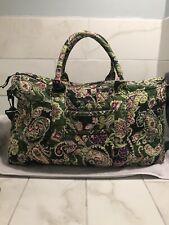 VERA BRADLEY Chelsea Green Satchel Duffel/Travel Bag Paisley/Floral Retired EXC