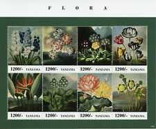 More details for tanzania flowers stamps 2013 mnh flora nature art paintings 8v m/s ii