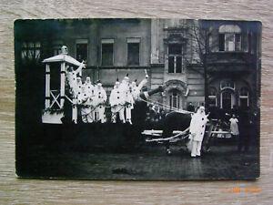Foto-PK Münster i.W. - Karneval , Pferdewagen vor Hausnr.45 , gel.1913