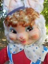 Vintage Gund Bunny large molded rubber vinyl face