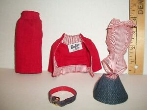MATTEL Vintage BARBIE #981 BUSY GAL OUTFIT CLOTHES REPRODUCTION REPRO #2
