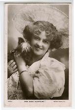 c 1905 British Edwardian Theater Marie Studholme w/ Cairn Terrier Dog photo pc
