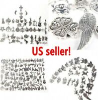 Wholesale 1000pcs Retro Silver Charm Tibetan Pendants Mixed in BULK Jewelry DIY