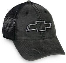 Chevy Black Low Profile Mesh Back Cap