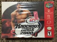 Knockout Kings 2000 Nintendo 64 N64!  Sealed! Excellent!