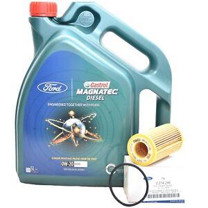 Original Ford Castrol Magnatec Diesel 0W20 0W-20 WSS-M2C952-A1 5L + Ölfilter