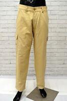 Pantalone NAVIGARE Uomo Taglia Size 52 Jeans Pants Man Cotone Gamba Dritta Beige