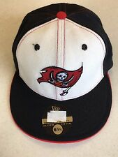 RETRO NEW ERA 5950 TAMPA BAY BUCCANEERS WHITE FRONT FLAT BRIM FITTED HAT