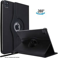 Housse Etui Noir pour Apple iPad pro 12.9 2020 Coque avec Support Rotatif 360°