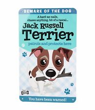Beware of the Jack Russell Terrier Funny Metal Wall Sign Plaque Dog Lovers Gift