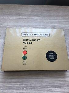 NORWEGIAN  WOOD HARUKI MURAKAMI LTD EDITION BOXED SET OF 2 PAPERBACKS 2000