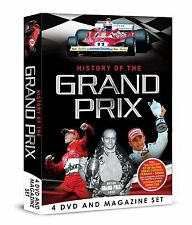 HISTORY OF THE GRAND PRIX 4 DVD & BOOK / MAGAZINE BOX SET, GREAT CIRCUITS & MORE