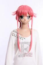 W-392 Future Diary Mirai Nikki Gasai Yuno Rosa Pink 77 cm Cosplay Perruque Wig