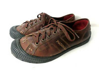 EARTH KALSO Sandstone Nolita US 6.5M Brown Leather Lace Up Walking Shoes
