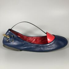LAUREN Ralph Lauren Womens Ladies Navy Blue Leather Shoes Size 8.5 B