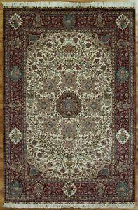 Silk High End Tree of Life NEW Distinctive Handmade Rug 6' x 9' Ivory Rug