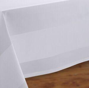 Gastronomie Tischdecke Tischwäsche Vollzwirn Weiß, eckig rund Größe wählbar