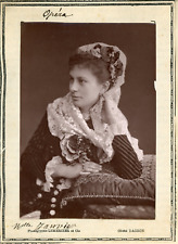 Lemercier et Cie, Paris, Mlle Janvier de l'Opéra  Vintage print.  Photogl