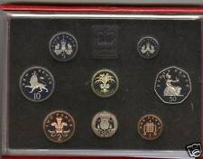 1990 DELUXE RED PROOF SET OF 8 COINS WITH CERTIFICATE
