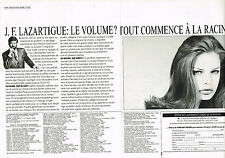 PUBLICITE ADVERTISING  1993   J.F  LAZARTIGUE   coiffeur  (2 pages)