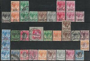 MALAYA 1937-49 KGVI Collection Used Lot.