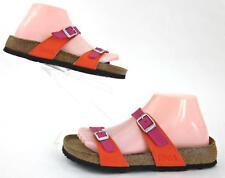 Birki's By Birkenstock Tahiti Sandals Magenta Pink / Orange US 7 Near Mint!