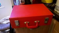 Vintage Picnic Set 1950/60s SIRRAM Very Rare Complete Red Vinyl Valise VGC