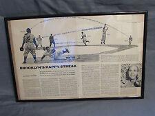 Brooklyn Dodgers Happy Streak 1955 Sports Illustrated Article Diagram of Cutoff